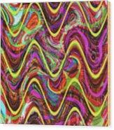 Janca Abstract Wave Panel #5at Wood Print