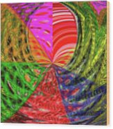 Janca Colors Panel Abstract # 5212 Wtw7 Wood Print