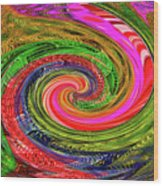 Janca Colors Panel Abstract # 5212 Wtw7abc Wood Print