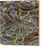 Janca Oval Abstract 4917 W3a Wood Print