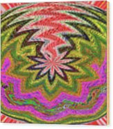Janca Pink Color Panel Abstract #5212 Wtw6 Wood Print