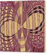 Janca Red And Yellow Abstract  Wood Print