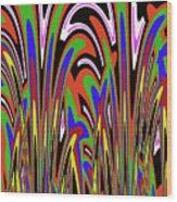 Jancart Drawing Abstract #8455wspc Wood Print