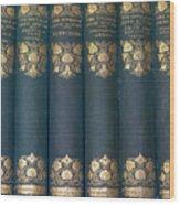 Jane Austain Books Wood Print