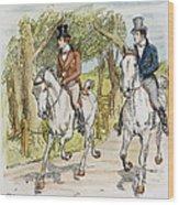 Jane Austen: Illustration Wood Print