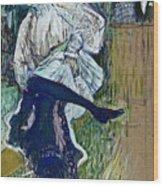 Jane Avril Dancing Circa 1892 Wood Print