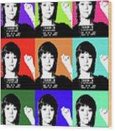 Jane Fonda Mug Shot X9 Wood Print