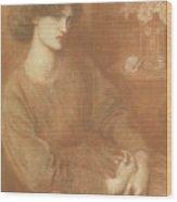 Jane Morris Wood Print