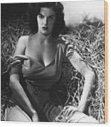 Jane Russell In The Outlaw Wow Wood Print