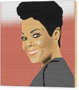 Janet Jackson Wood Print