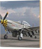 Janie P-51 Wood Print