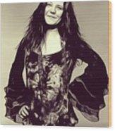 Janis Joplin, Music Legend Wood Print