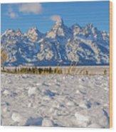 January At The Tetons Wood Print