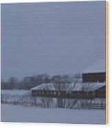 January Barn Wood Print