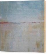 January Beach Wood Print