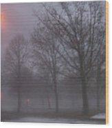 January Fog 3 Wood Print