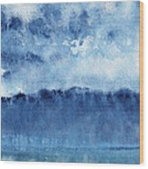 January Rain Wood Print