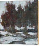 January Thaw Wood Print