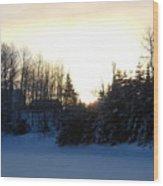 January Winter Morninng Wood Print