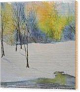 January's Morning Song Wood Print