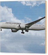 Japan Airlines Boeing 787 Dreamliner Wood Print