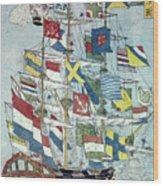 Japan: Dutch Ship Wood Print
