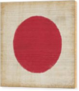 Japan Flag Wood Print by Setsiri Silapasuwanchai