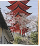 Japan Itsukushima Temple Wood Print