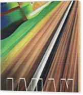 Japan, Japanese Railways, Travel Poster Wood Print