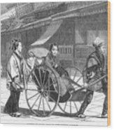 Japan: Rickshaw, 1874 Wood Print by Granger