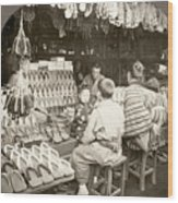 Japan: Shoe Store, C1910 Wood Print