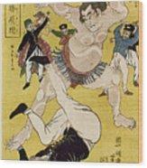 Japan: Sumo Wrestling Wood Print