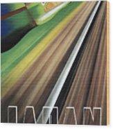 Japan Vintage Travel Poster Restored Wood Print