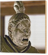 Japan: Warrior Statue Wood Print
