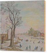 Japanese Art And Semblance Of Aert Van Der Neer Wood Print