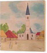 Japanese Artistic Light Of Esaias Van De Velde Wood Print