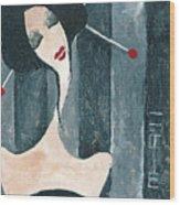 Japanese Beauty Wood Print