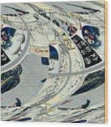 Japanese Bold Abstract Wood Print