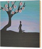 Japanese Cherry Blossom Wood Print