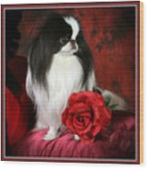 Japanese Chin And Rose Wood Print