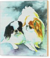 Japanese Chin Dog Wood Print