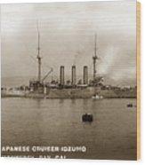 Japanese Cruiser Izumo In Monterey Bay December 1913 Wood Print