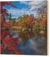 Japanese Foliage Wood Print