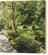 Japanese Garden At Butchart Gardens In Spring Wood Print