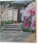 Japanese Garden Wood Print