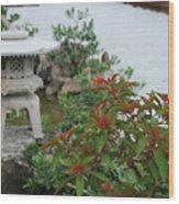 Japanese Garden Lantern Wood Print