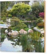 Japanese Garden Panorama 2 Wood Print