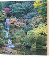 Zen Japanese Garden Wood Print