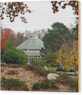 Japanese Garden Roger Williams Park Wood Print