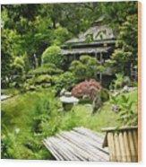 Japanese Garden Teahouse Wood Print